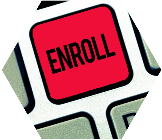 enroll online high school - concept