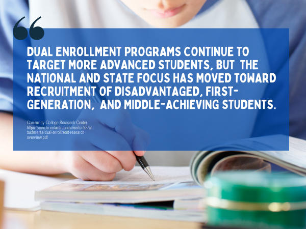 Online HS dual enrollment fact 1